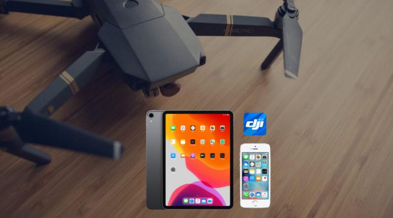 Apps da DJI + smartphones e tablets compatíveis